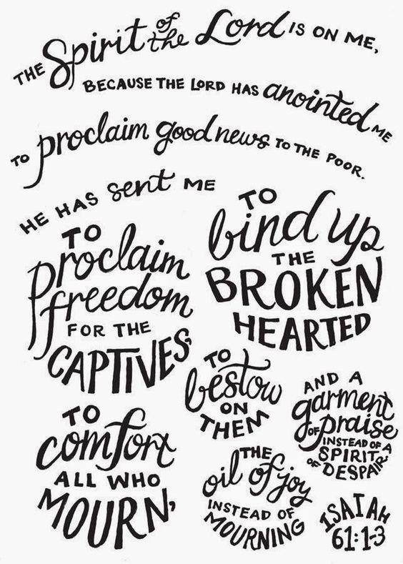 Isaiah 61; 1-3