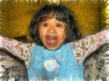 Anaiah Elizabeth Thomas : Pencil sketch excited