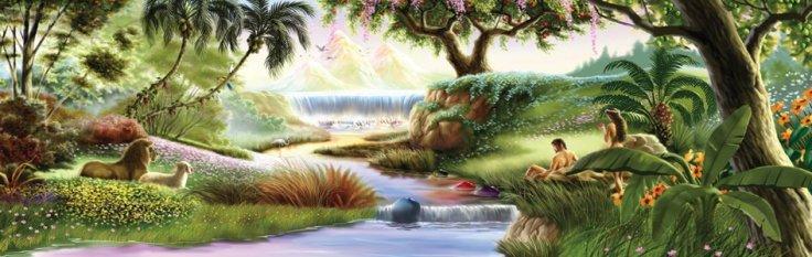 God Creates the garden of Eden