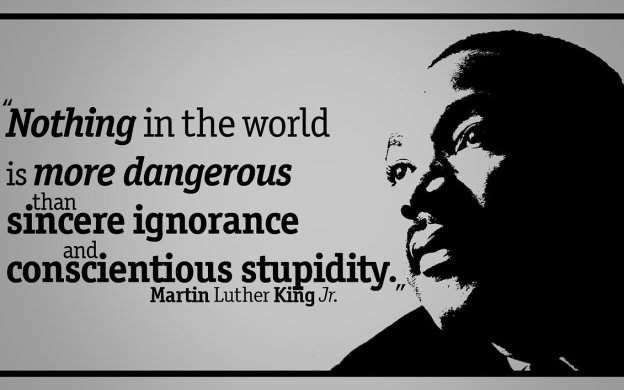Nothing in this world is more dangerous than sincere ignorance and conscientious stupidity - Martin Luther King Jr.
