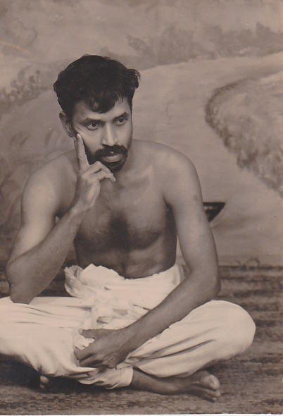 Grand father posing