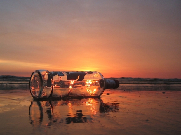 bottle-on-beach